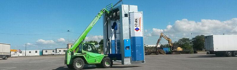 Lkw-Waschanlage von STARK bauen lassen
