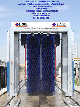 Stark Reinigungsgeräte GmbH - Stationäre Portal Waschanlage für LKW & Bus