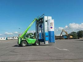 Stark Reinigungsgeräte GmbH - Aufbau Portal LKW Waschanlage