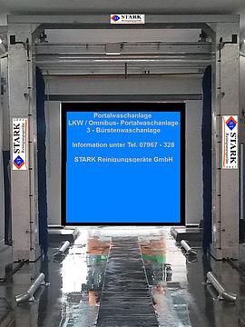 Stark Reinigungsgeräte GmbH - Portalanlage für LKW & Bus, 3 Bürstenwaschanlage