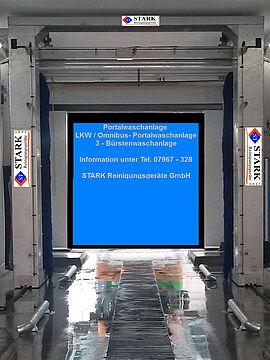 Stark Reinigungsgeräte GmbH - Portal LKW & Bus - Bürstenwaschanlage