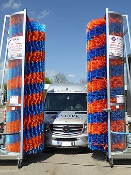 Stark Reinigungsgeräte GmbH - Durchfahrwaschanlage individuell für LkW oder Züge Zugwaschanlage